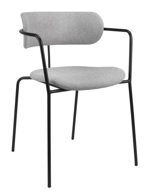 Spisebordsstol SPIDER lys grå-sort (599 DKK)