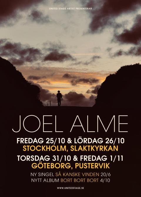 Joel Alme gör efterlängtade höstkonserter med nytt album - ett första smakprov släpps idag