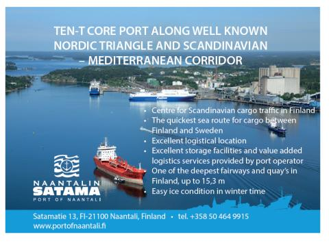Total transports in the Port of Naantali 7.57 million tonnes in 2019