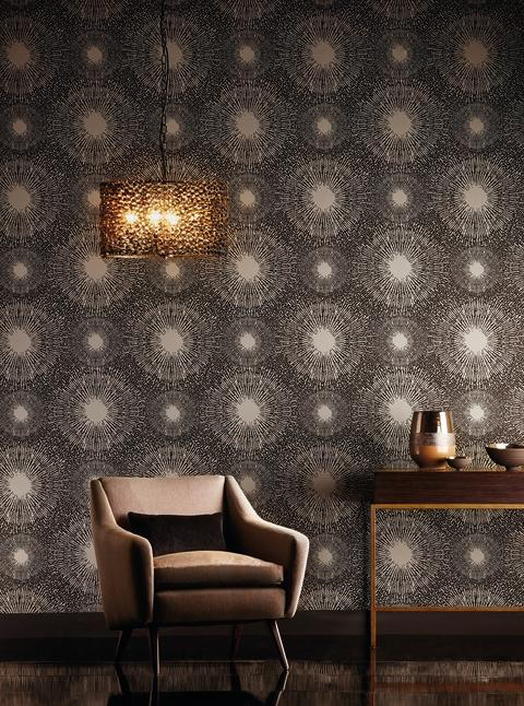 Tapet med vackert & effektfullt mönster!