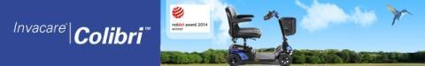 Scootern Invacare Colibri: vinnare av Red Dot Award 2014 för hög designkvalitet