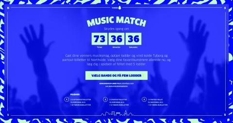 NorthSide lancerer Music Match 2.0