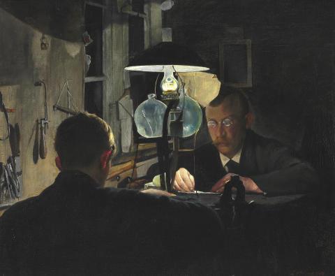 """L. A. Ring: """"Guldsmedeværksted"""" (1917)"""