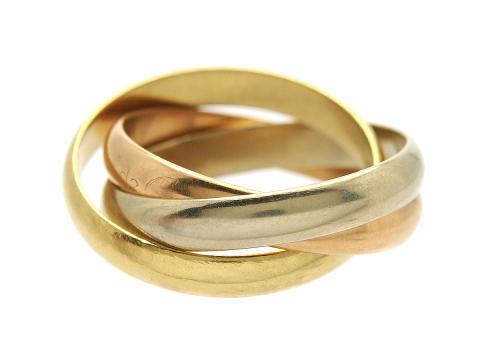 Moderna 12/12, Nr: 214, CARTIER, ring, Trinity,18K trefärgad guld