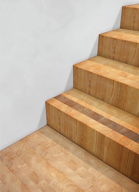 Folkhem bygger Sveriges högsta hus helt i trä / trappsteg och golv av kubb