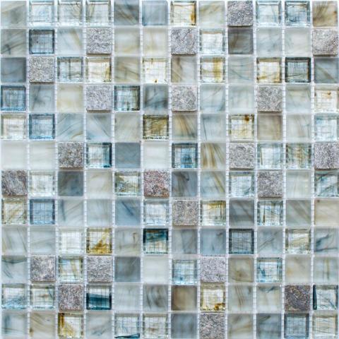 Mosaik Eventyr Paradisets Have Lyseblå 30x30, 1.498 kr. M2.