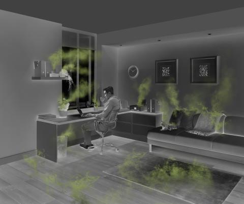 Home Office mit Verschmutzungsquellen