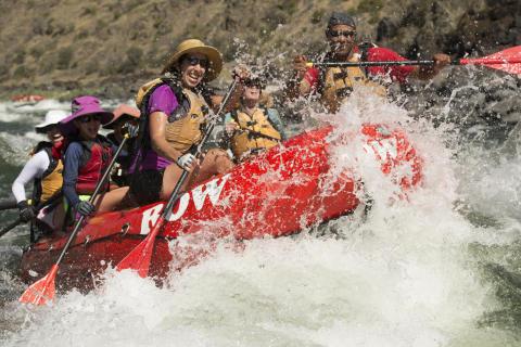 Idaho rafting Lower Salmon Canyon