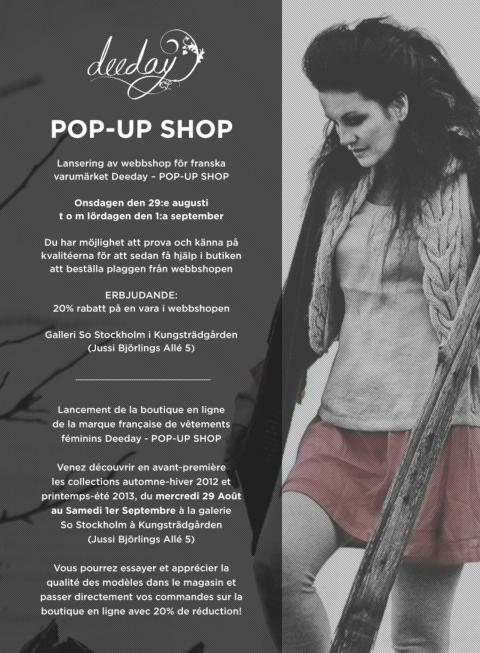 POP UP SHOP i Kungsan!