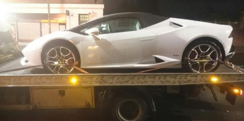 Lamborghini seized as part of crackdown on road violations
