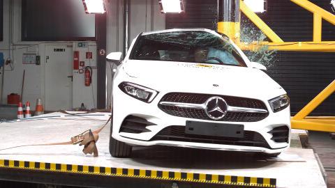 Mercedes-Benz A-Class pole impact