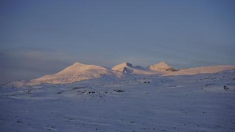 Is - og snøforhold i fjellet i Nordland og Troms 25. januar  2018