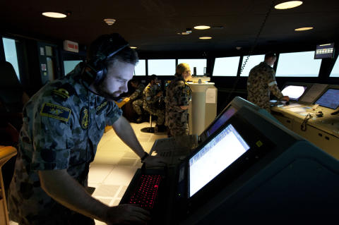 Royal Australian Navy continues to expand training capability with two new ship's bridge simulators