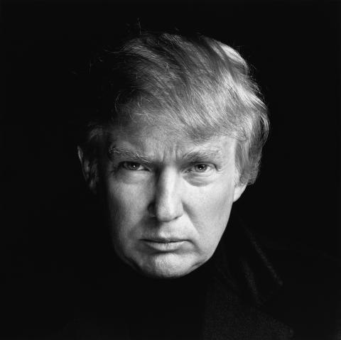 Donald Trump, businessman, New York, November 20, 2001. Photograph by Richard Avedon © The Richard Avedon Foundation.