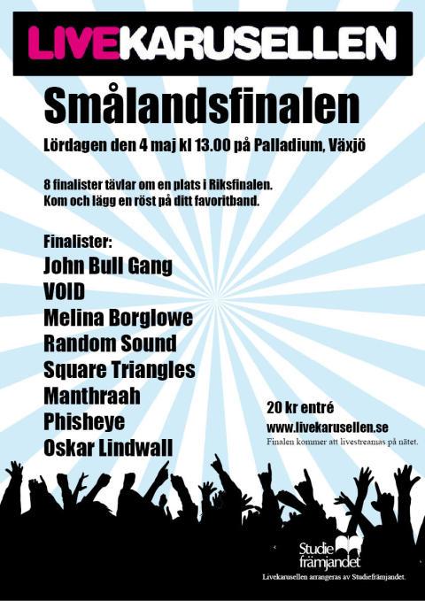 Smålandsfinal i Livekarusellen 4 maj