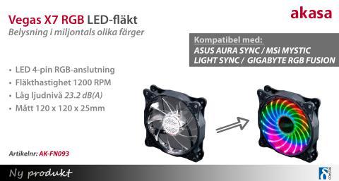 LED-fläkt med miljontals olika färger!