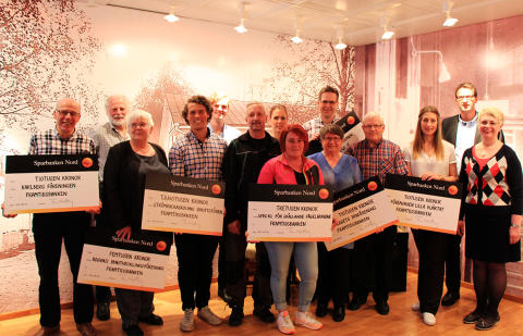 Sparbanken Nord - Framtidsbanken i Piteå delade ut 93 000 kronor