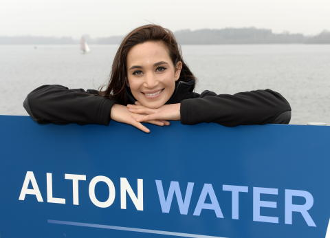 Laura Wright at Alton Water the day she joined SportsAid as an ambassador