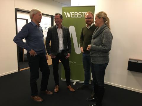 Fra venstre Rolf Helle Joar Krohn Erlend Nævdal Marianne Styrman Webstep