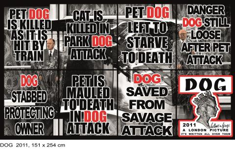 Gilbert & George, DOG, 2011