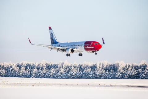 Norwegian med högre enhetsintäkter, rekordhög punktlighet och högre kabinfaktor
