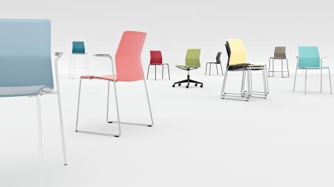 Vårens färger är här - stolen LEIA från Kinnarps nu i flera kreativa kulörer