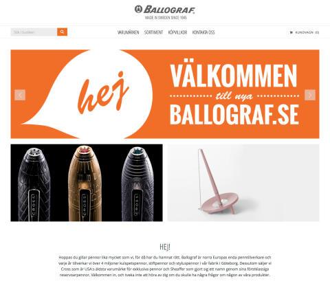 Ballograf väljer Jetshop Commerce för sin nya onlinesatsning