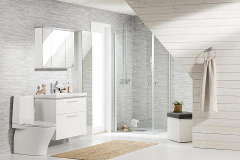 Markkinajohtajalta tyylikäs kylpyhuonemallisto – Näin kylpyhuoneen siivous helpottuu