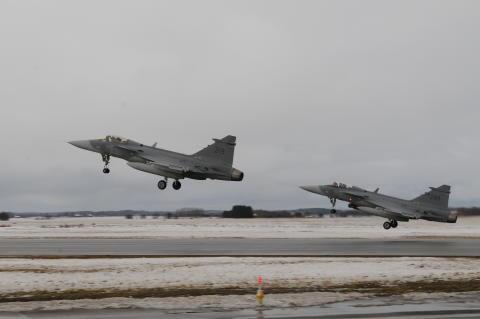 Pressinbjudan: Norrbottens flygflottilj övar i nedre Norrland