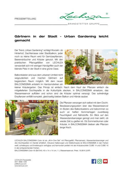 g rtnern in der stadt urban gardening leicht gemacht lechuza. Black Bedroom Furniture Sets. Home Design Ideas