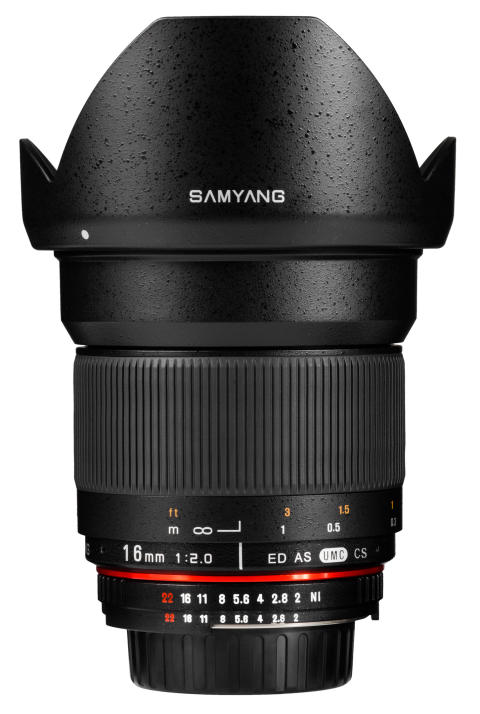 Samyang 16mm - Musta