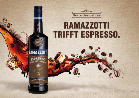 Zwei italienische Originale – Ein Genussmoment: Ramazzotti trifft Espresso.