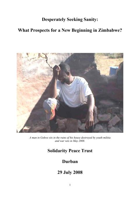 Rapporten Desperately seeking sanity - What prospects for a new beginning in Zimbabwe