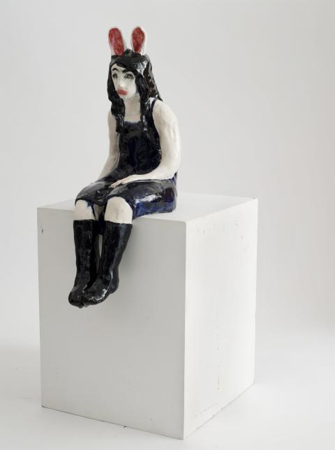 Klara Kristalova, Kaninflickan, 2009. Stoneware. Courtesy of Galleri Magnus Karlsson
