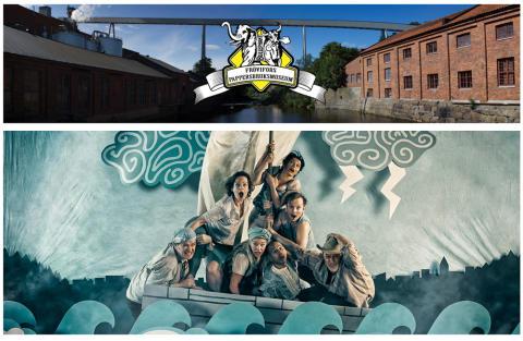 Teater, musik och mycket konst på Vinterspår i Frövifors Pappersbruksmuseum