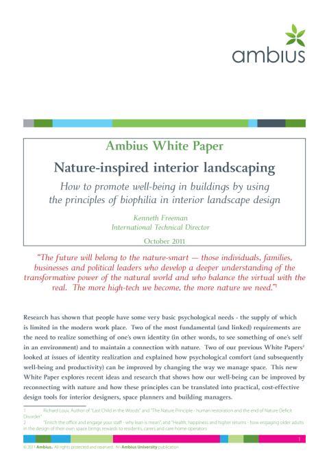 White paper om Biophilia