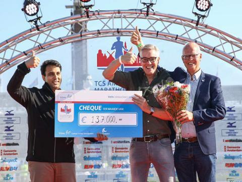 Opbrengst TCS Amsterdam Marathon passeert de één miljoen euro voor VUmc Cancer Center