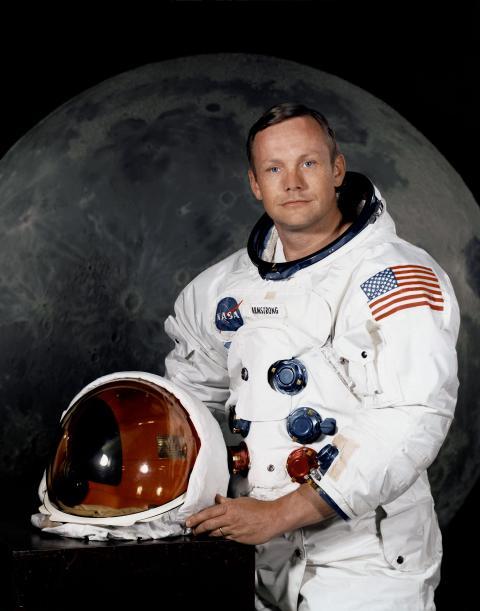 Neil Armstrong kort før Apollo 11-missionen i juli 1969.