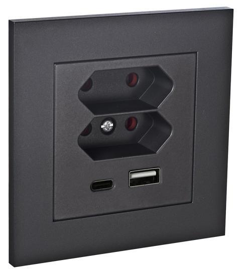 USB-Uttag Plus Svart