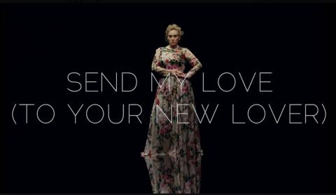 "ADELE SLIPPER NY VIDEO   ""SEND MY LOVE (TO YOUR NEW LOVER)""   SE DEN HER"