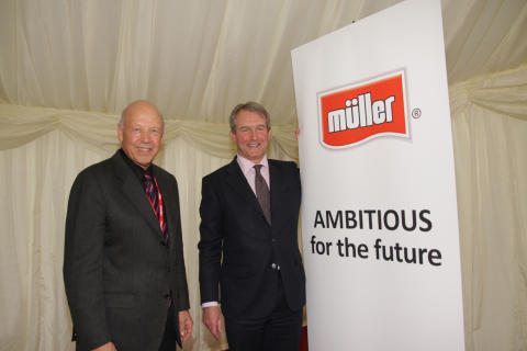 Theo Müller Snr and Owen Paterson