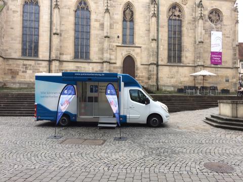 Beratungsmobil der Unabhängigen Patientenberatung kommt am 20. Oktober nach Tübingen.