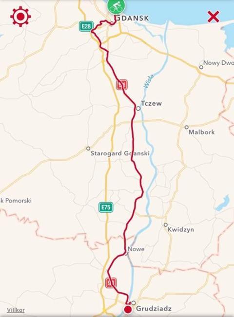 Första etappen genom Polen