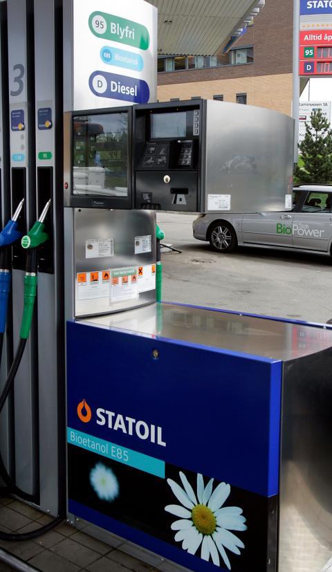 Statoil Rakkestad først med bioetanol E85 i Østfold
