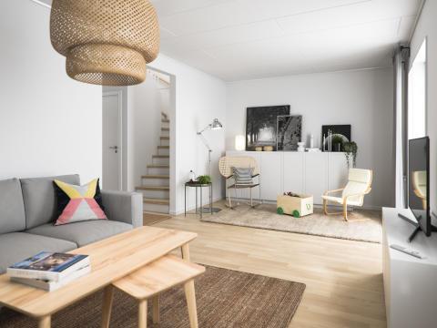 Välkommen in till ett nybyggt BoKlok-hem i Färjestaden!