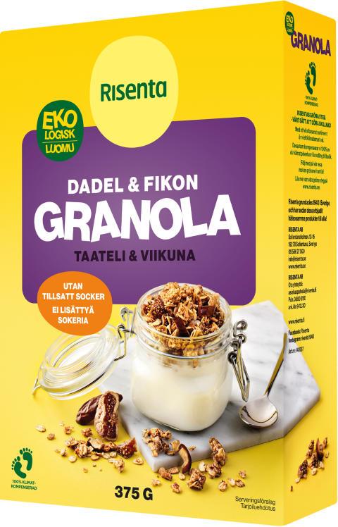 RISENTA EKO GRANOLA DADEL & FIKON 375 G