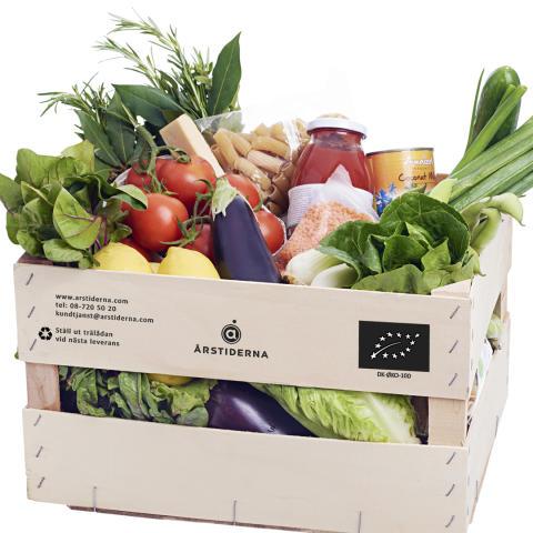 Vegetariska Matkassen låda