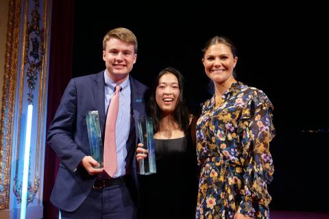 Ryan Thorpe and Rachel Chang from the USA win 2017 Stockholm Junior Water Prize
