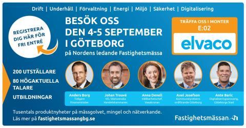 Elvaco ställer ut på Fastighetsmässan i Göteborg 4-5 september
