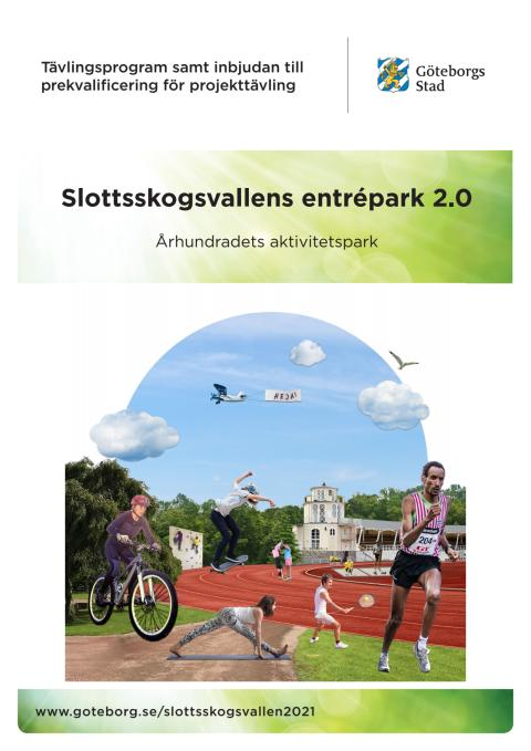 Tävlingsprogram för Slottsskogsvallens entrépark